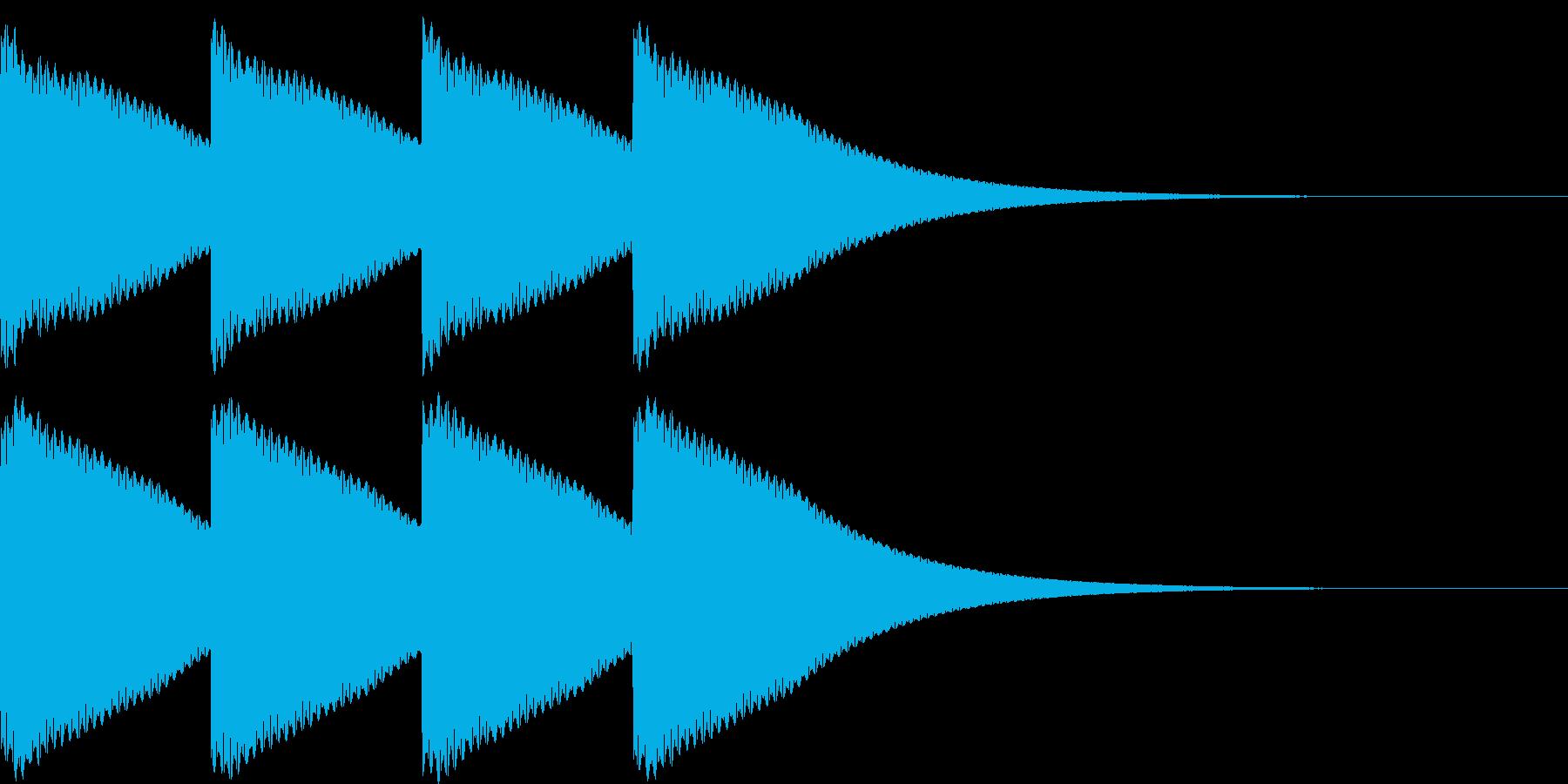 ゴーン...。時計の鐘C(低・短)の再生済みの波形