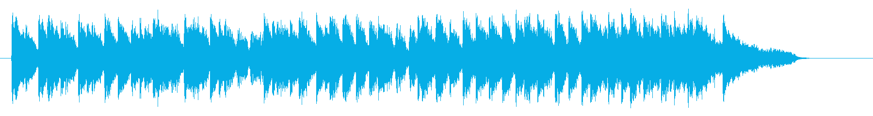 可憐で明るいピアノジングルの再生済みの波形