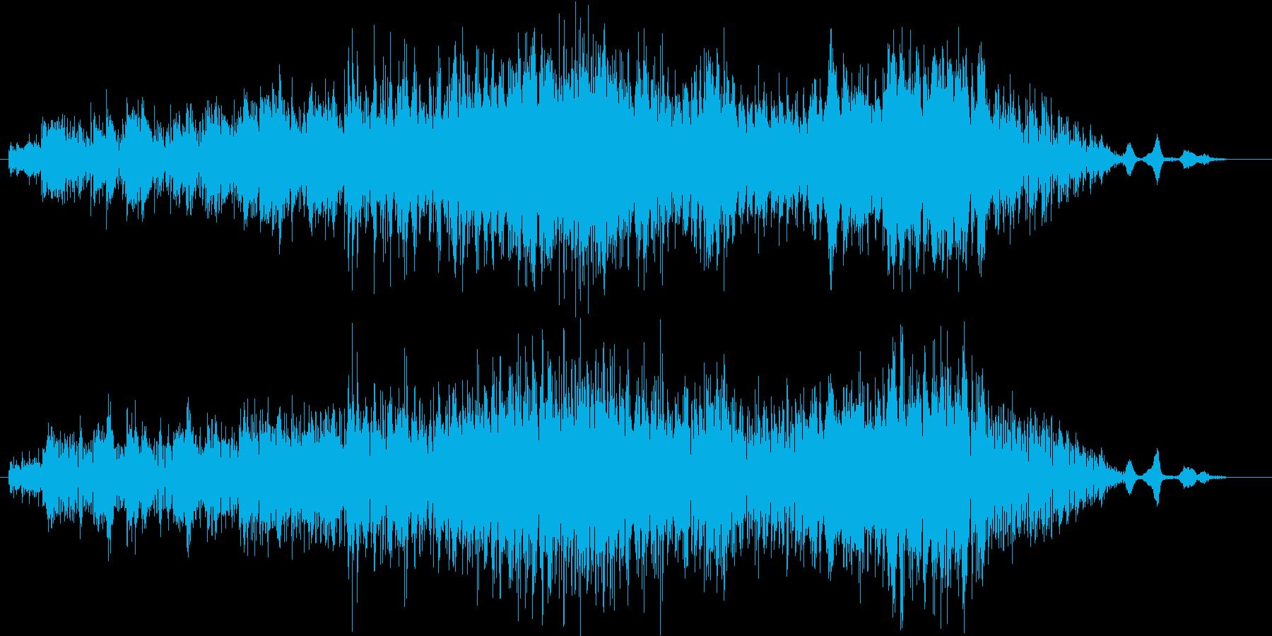 トロピカルなピアノとヴァイオリンの再生済みの波形