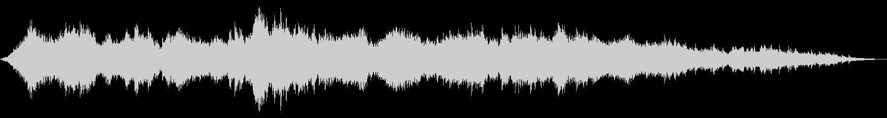 さざ波をイメージしたヒーリングサウンドの未再生の波形