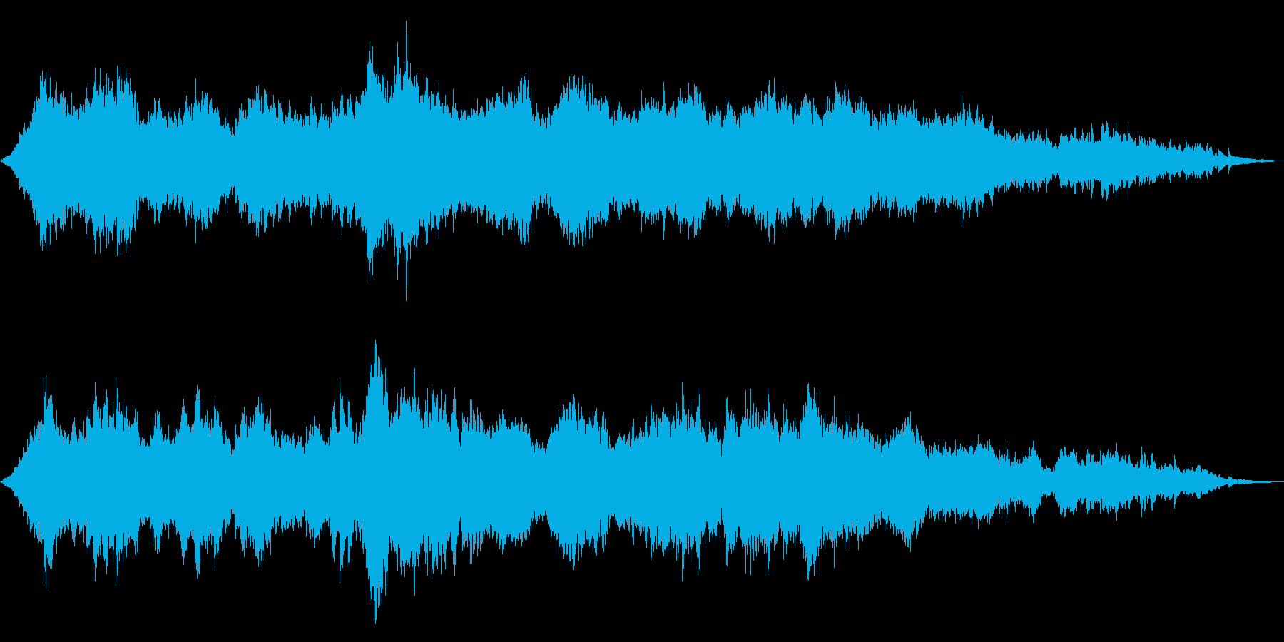 さざ波をイメージしたヒーリングサウンドの再生済みの波形