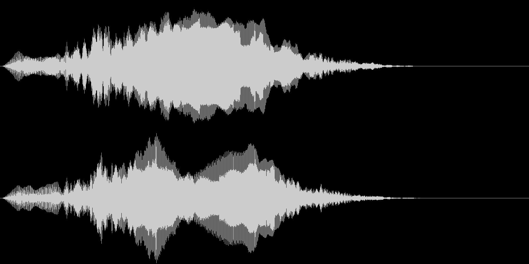 インドクジャクの鳴き声の未再生の波形
