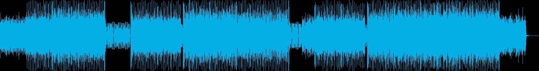 ピアノハッピーハードコアの再生済みの波形