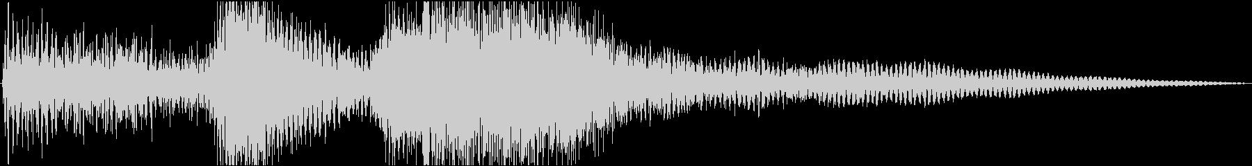 軽く短めのシンフォニー系ファンファーレの未再生の波形