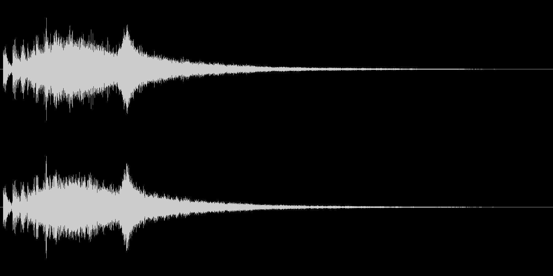 『ジャジャジャーン!』中国ドラの連打音の未再生の波形