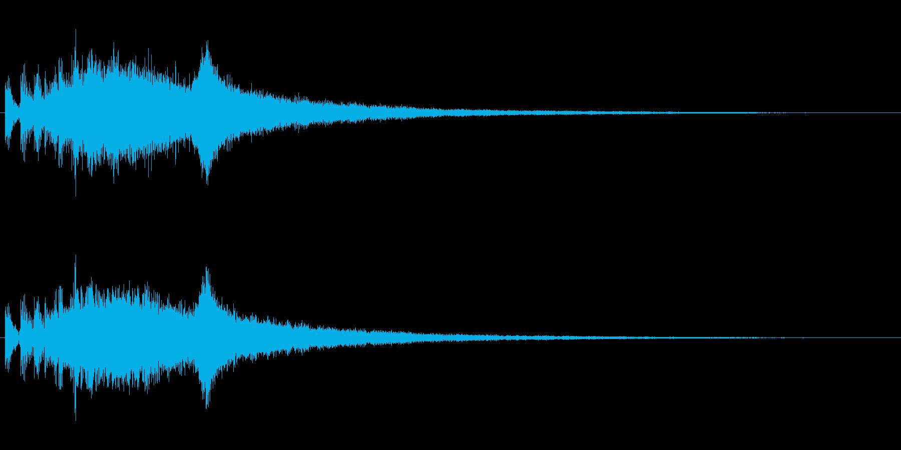 『ジャジャジャーン!』中国ドラの連打音の再生済みの波形