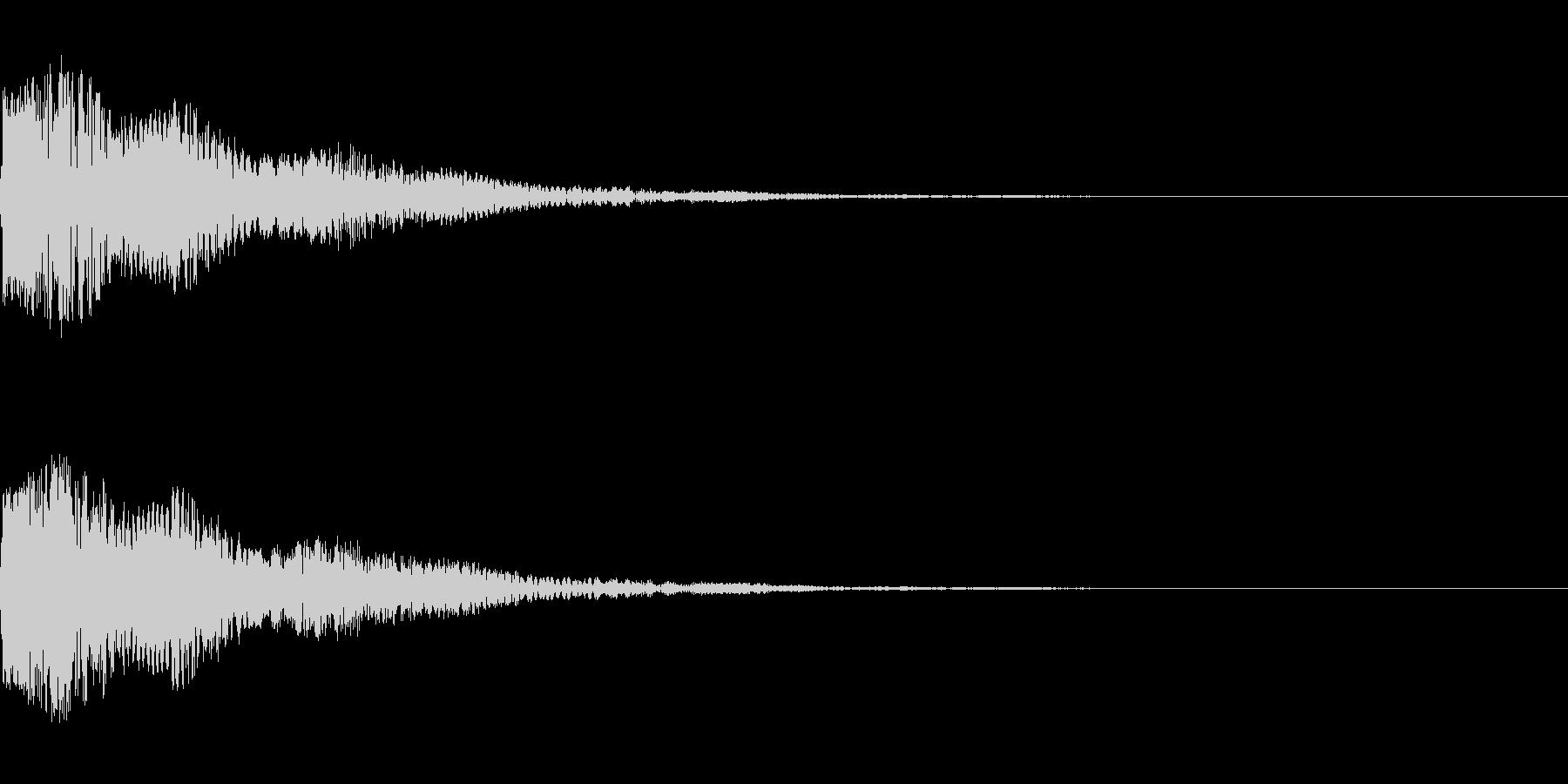 ピョコンとしたかわいい音です。の未再生の波形