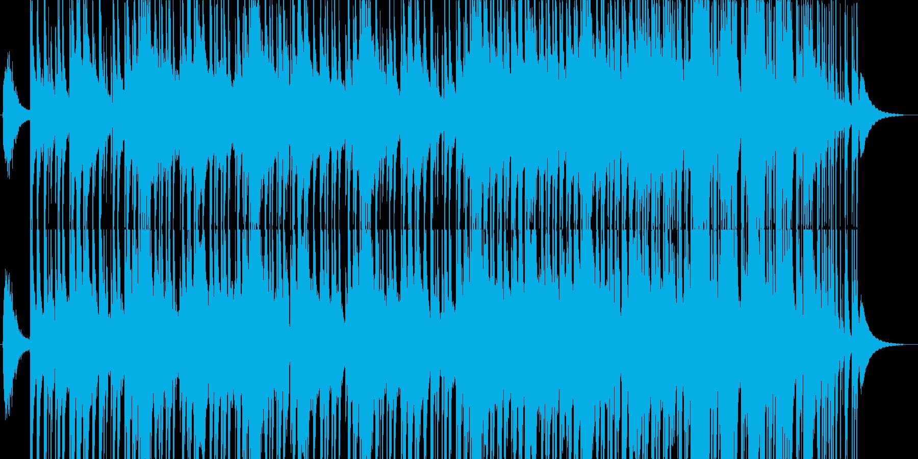 祭りで流れような和風音頭の再生済みの波形