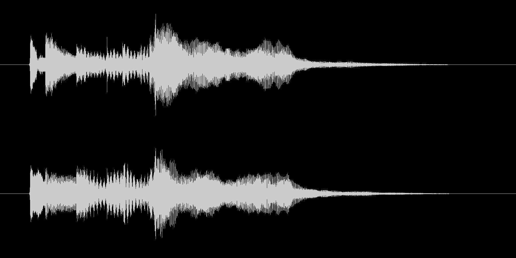 幻想的で落ち着いたリラクゼーション音楽の未再生の波形