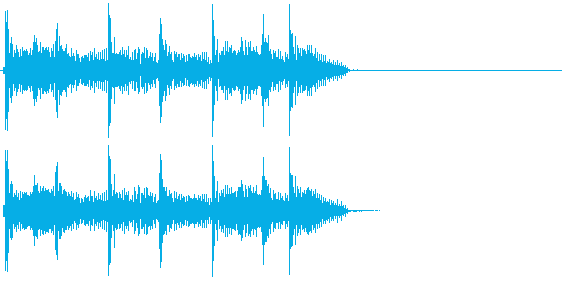2小節ジングル07 80'sの再生済みの波形