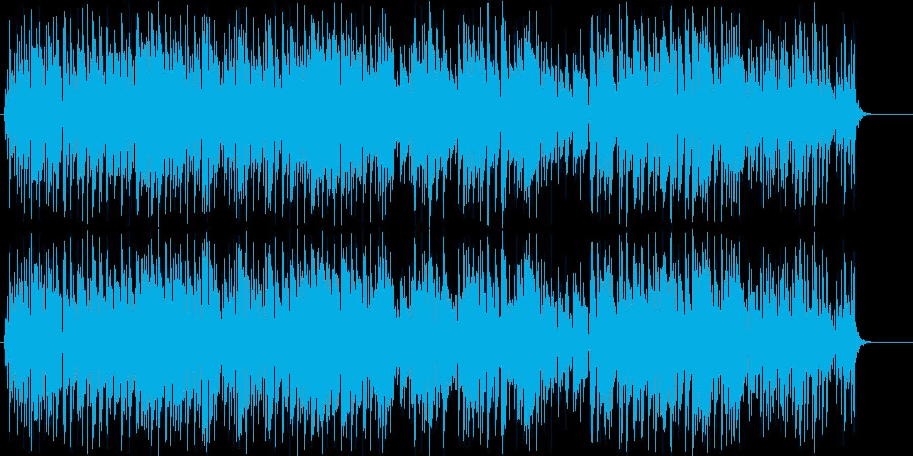 ガットギターによる冒険風の曲の再生済みの波形
