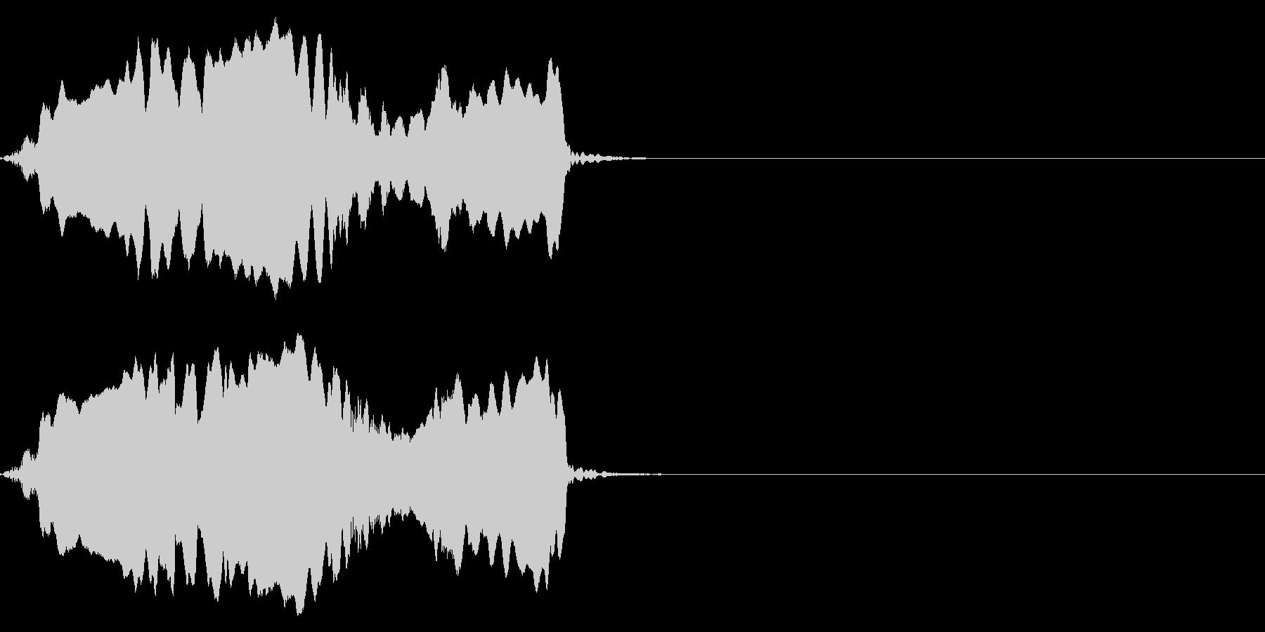 オカメインコの、悲しそうな声の未再生の波形