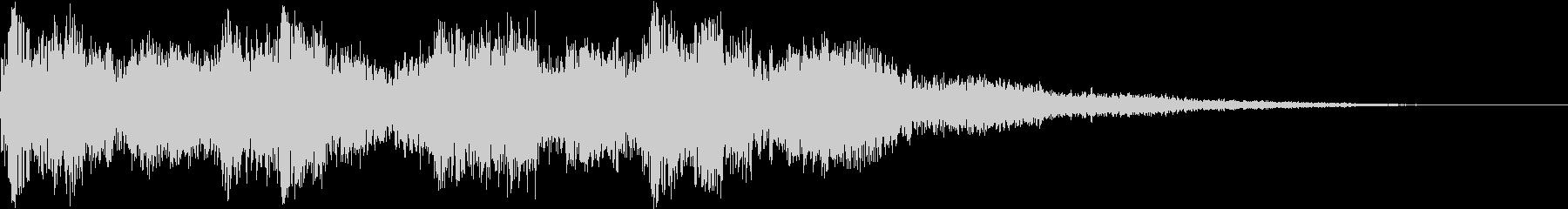 キュイン ピコン ビュイン ギュインの未再生の波形