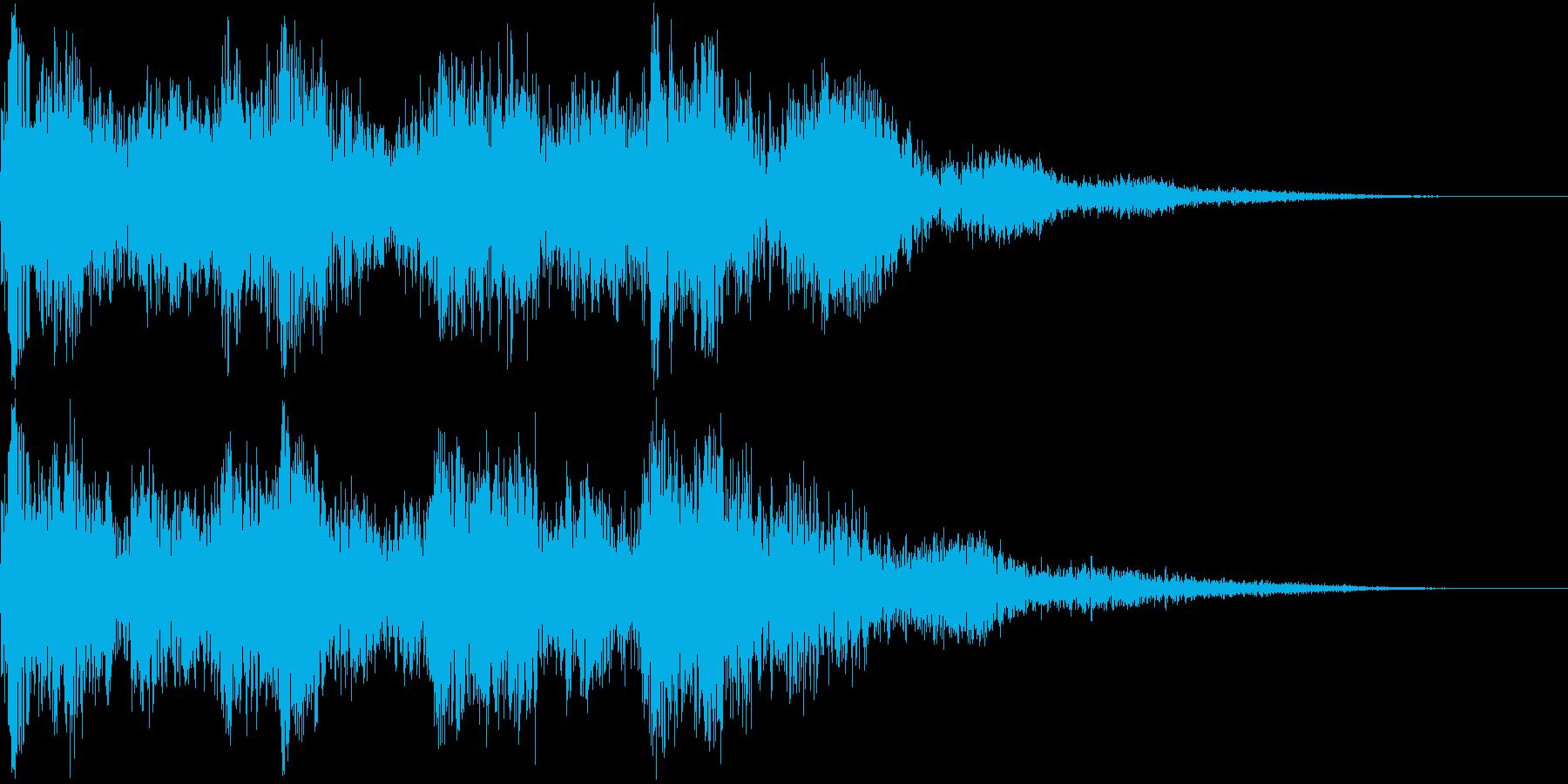 キュイン ピコン ビュイン ギュインの再生済みの波形
