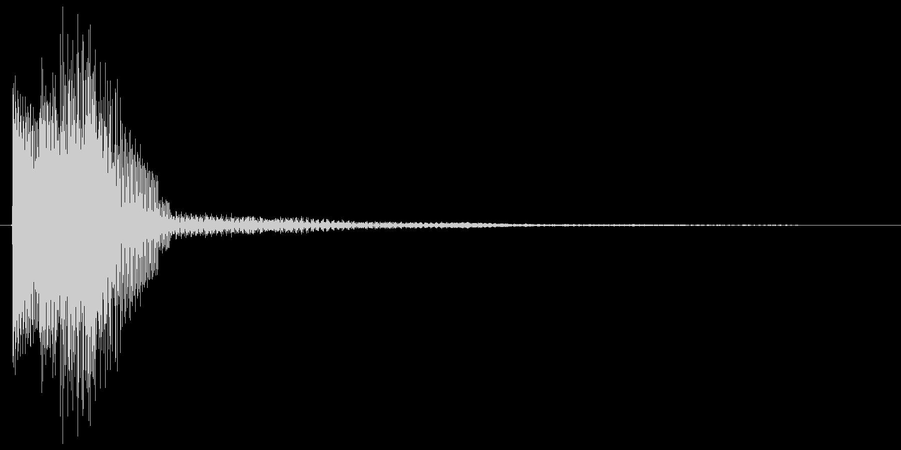 シンセ下降系のシンプルなキャンセル音の未再生の波形