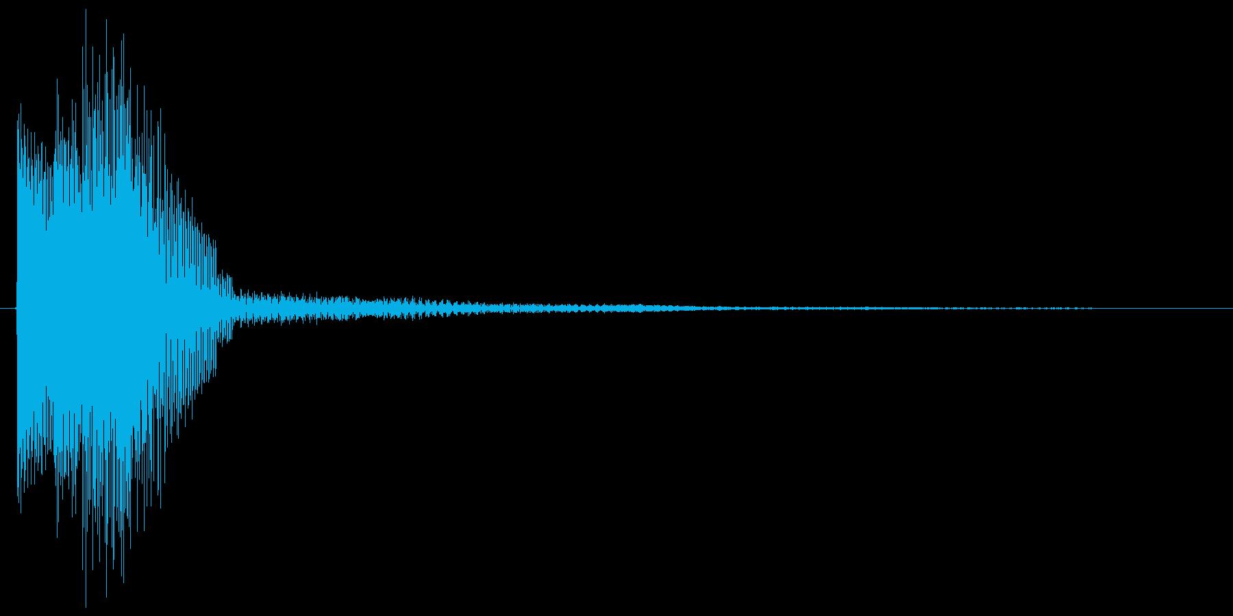 シンセ下降系のシンプルなキャンセル音の再生済みの波形