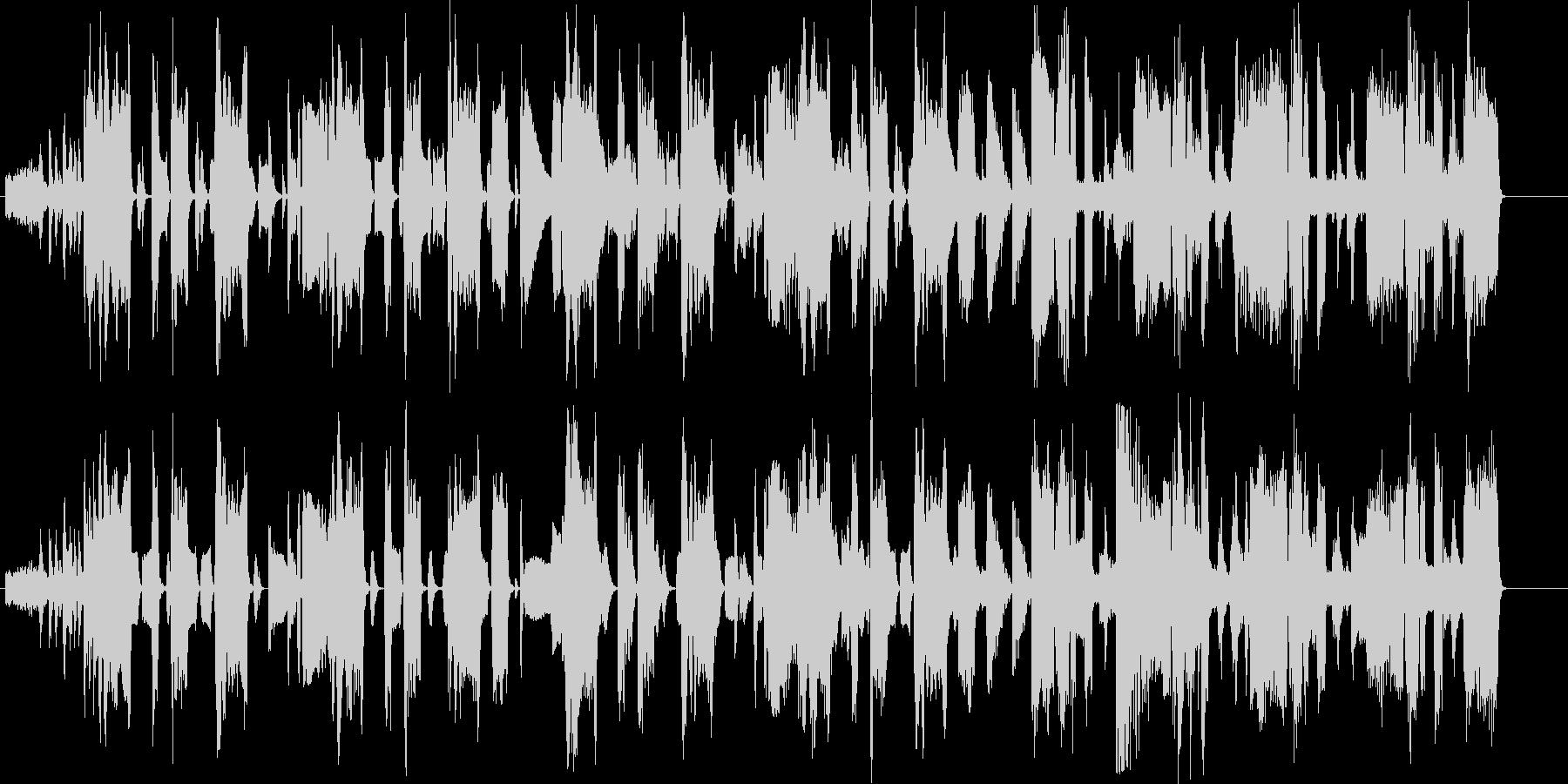 かっこいい大人なファンクミュージックの未再生の波形