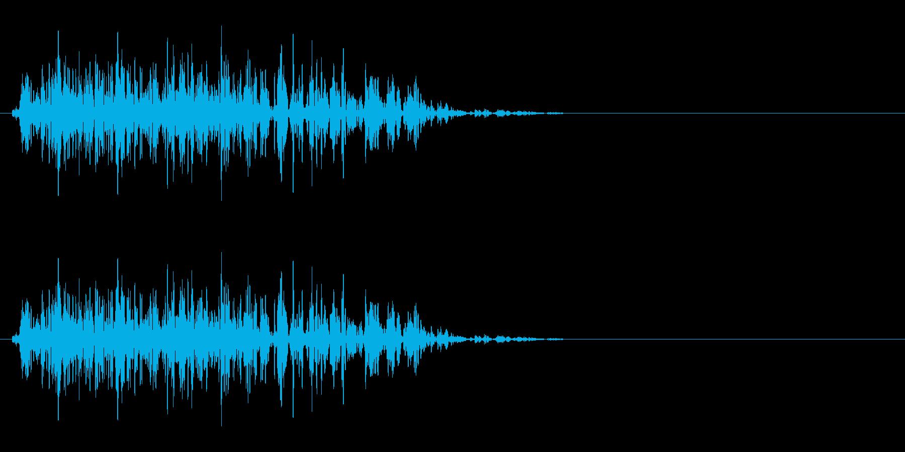 毒を受けたSE(状態異常、毒、ピッチ低)の再生済みの波形