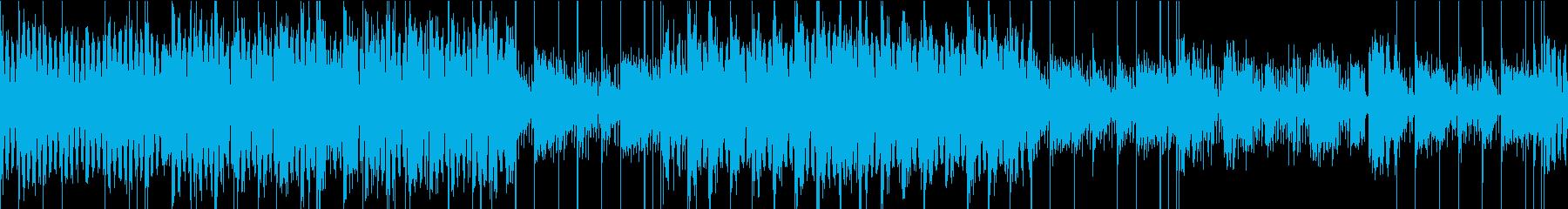 浮遊感のある無機質でクールなテクノの再生済みの波形