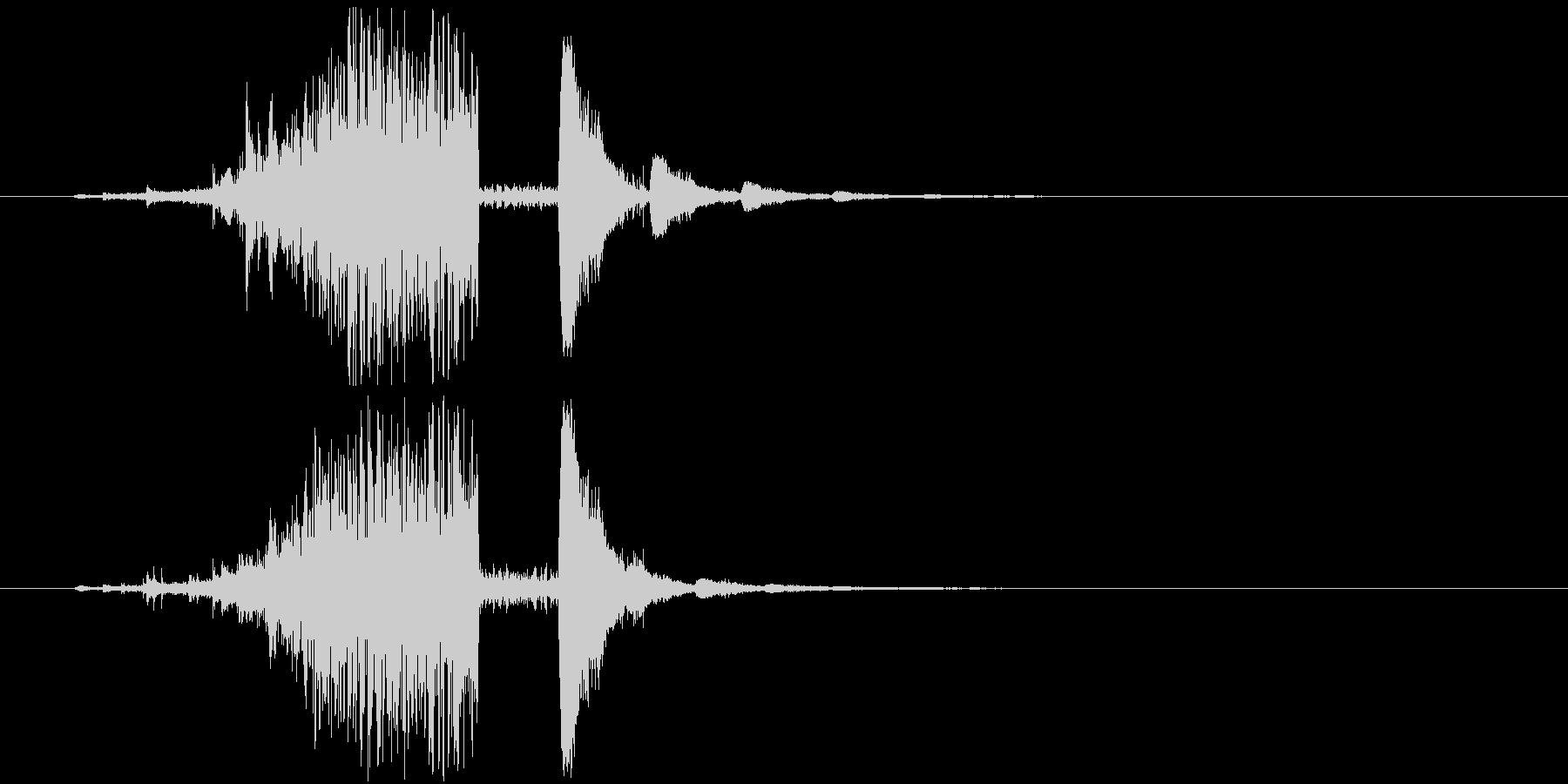 氷魔法の音2(凍った敵が割れるイメージ)の未再生の波形
