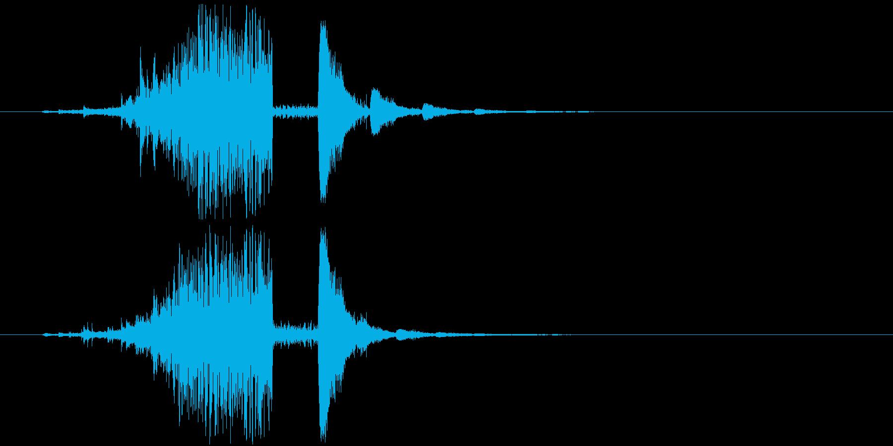 氷魔法の音2(凍った敵が割れるイメージ)の再生済みの波形