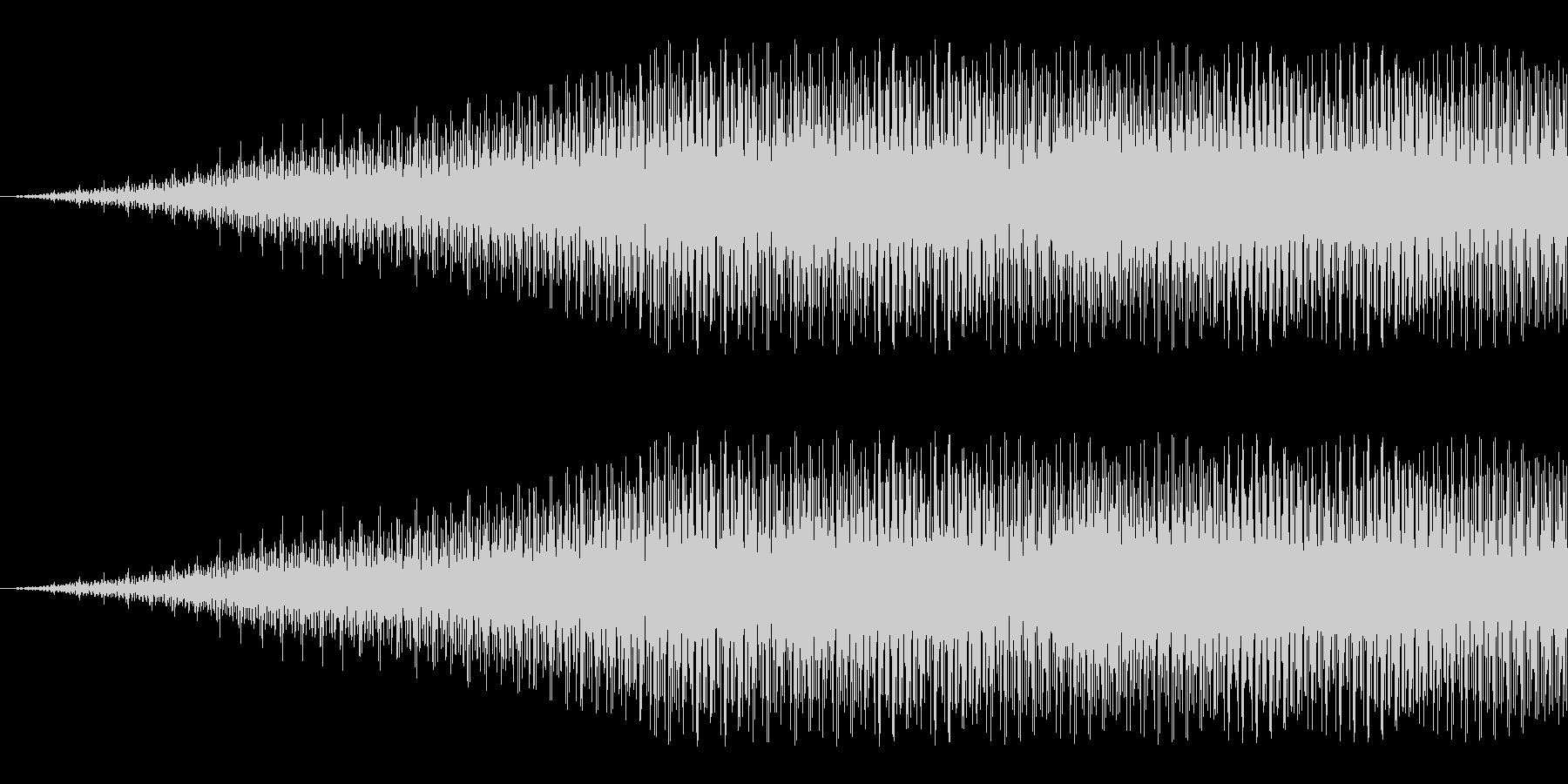 キュイーン:メカの駆動音などに。の未再生の波形