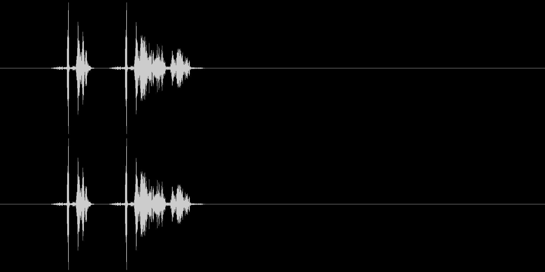 チッ!ボタン音の未再生の波形