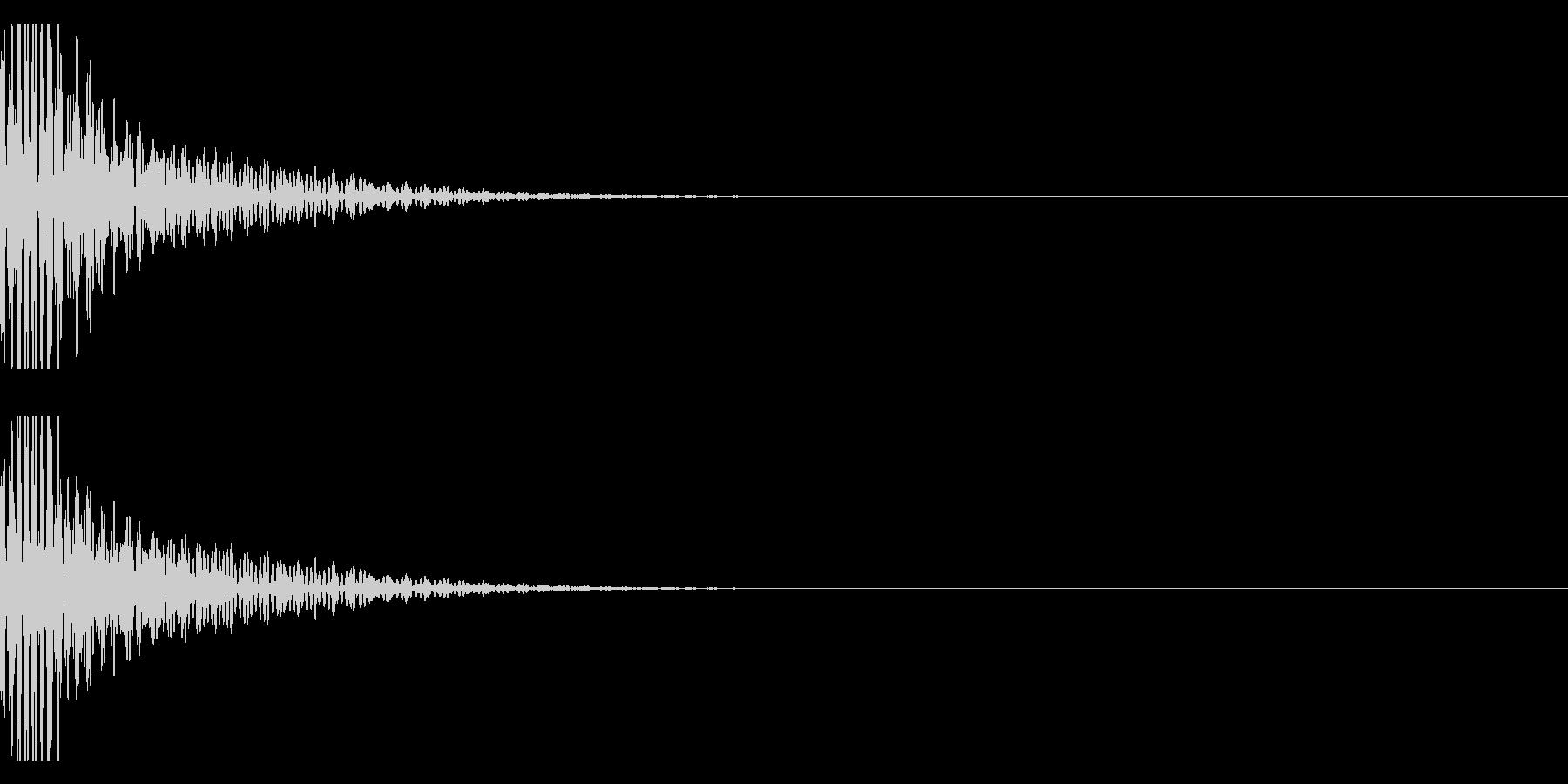 クリエイター向け!EDMバスドラム1Bの未再生の波形
