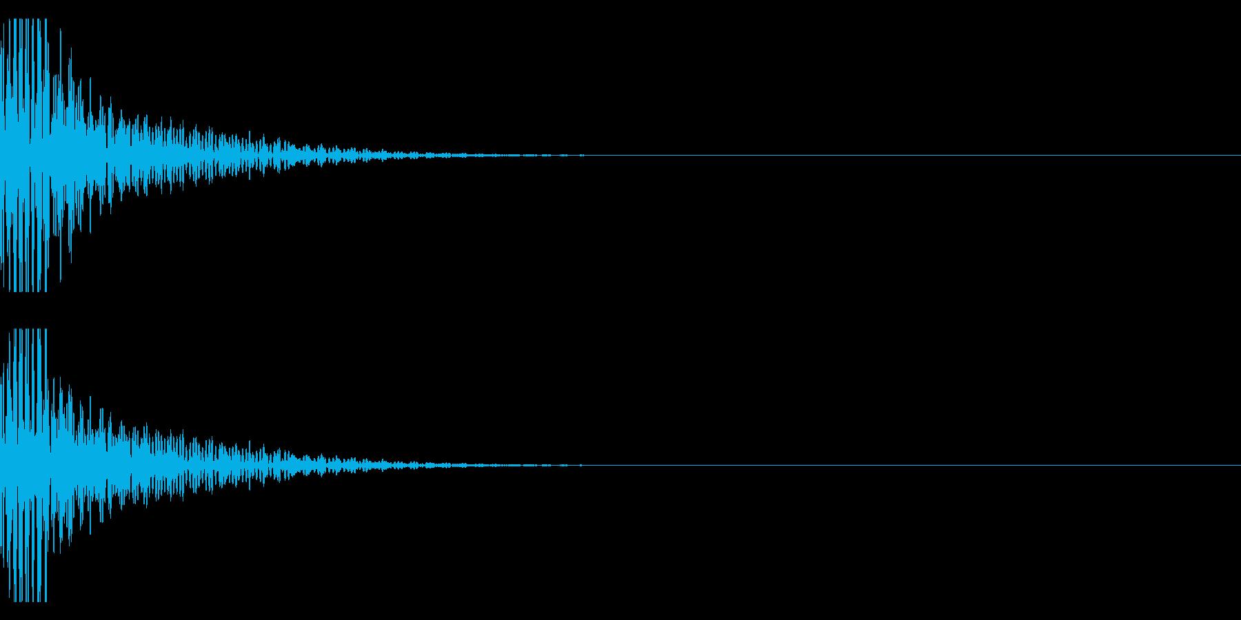 クリエイター向け!EDMバスドラム1Bの再生済みの波形