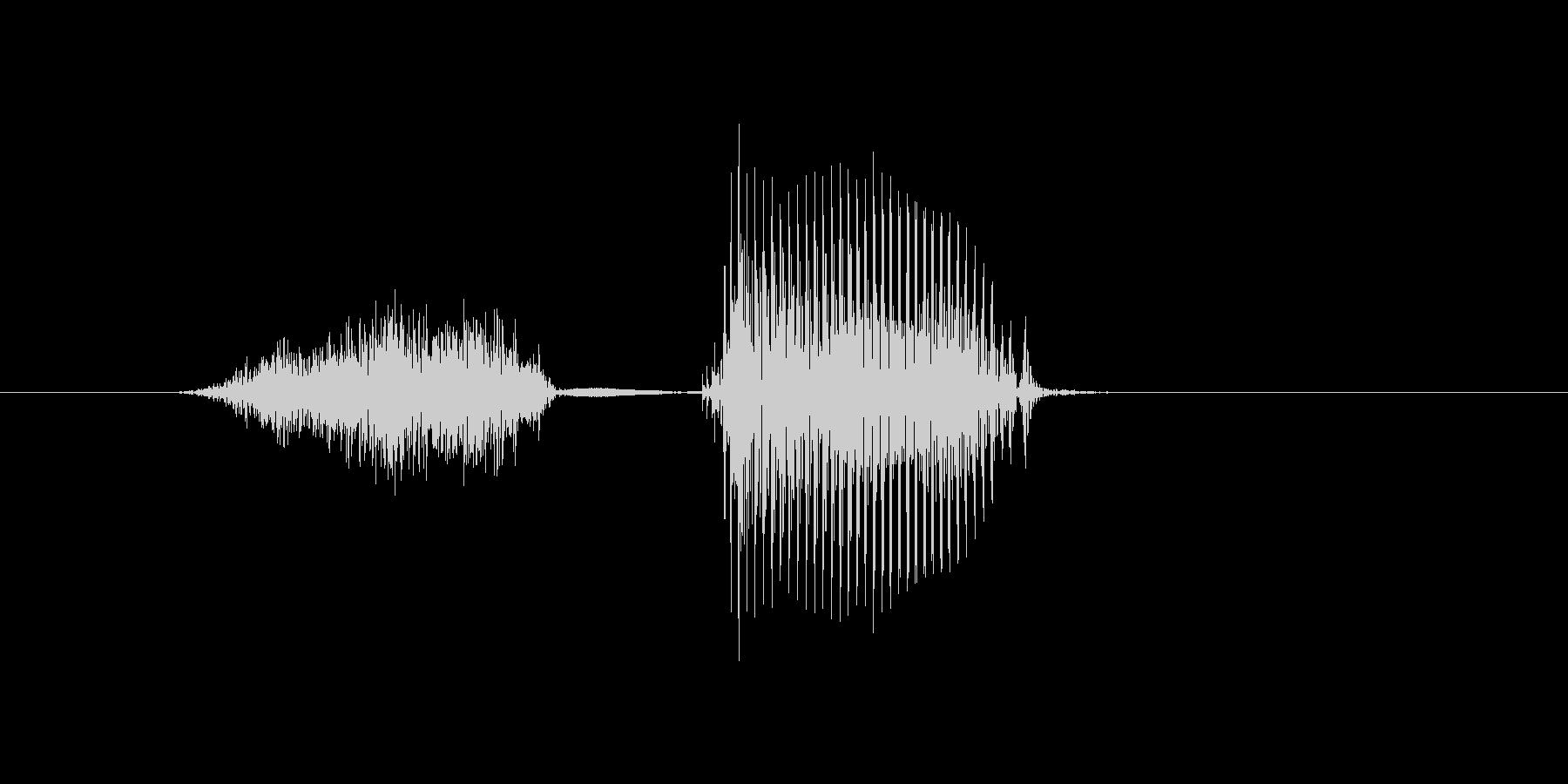下の未再生の波形