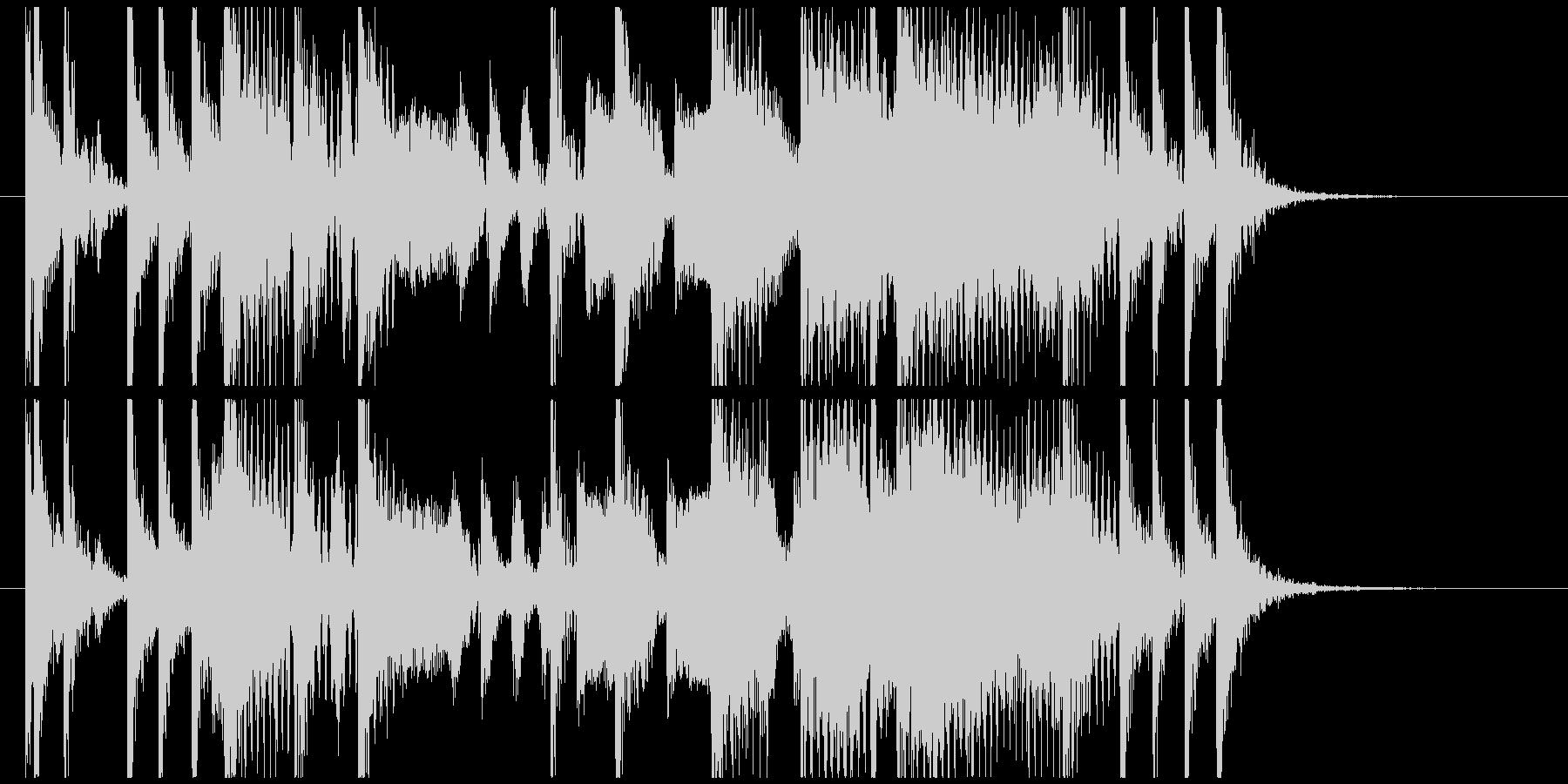 ワウギターによるファンキーなジングルの未再生の波形
