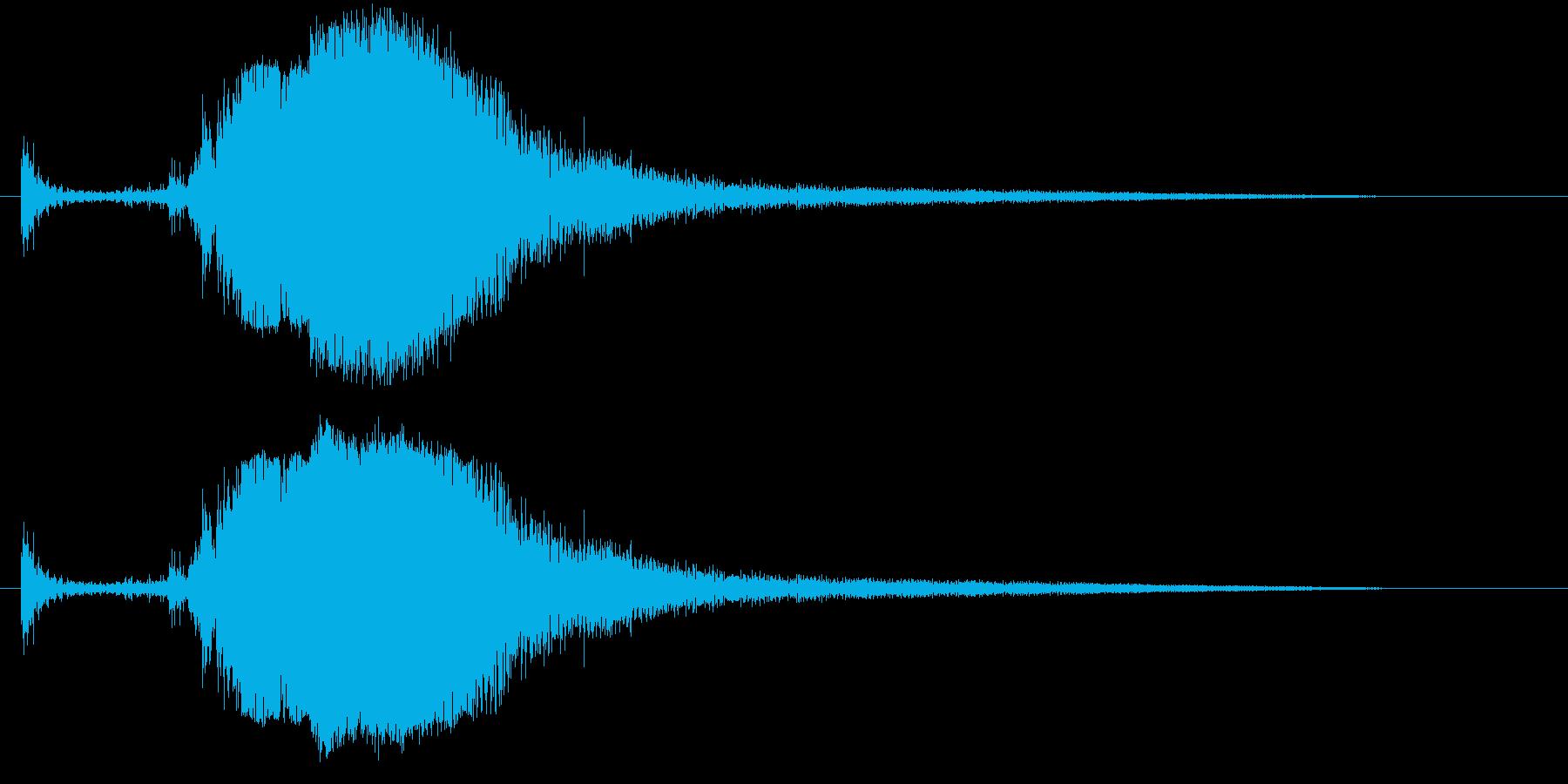 剣を抜く音#2の再生済みの波形