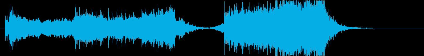 民族楽器を使用した激しいオープニング曲の再生済みの波形