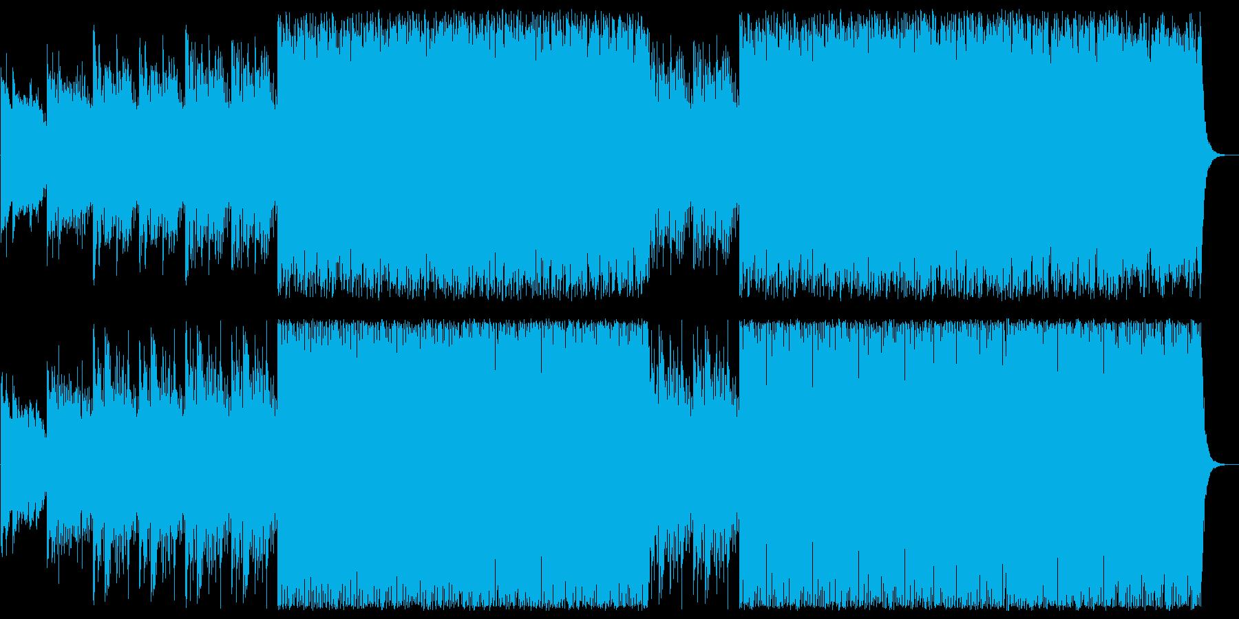 お洒落な4つ打ちのスムーズハウスの曲の再生済みの波形