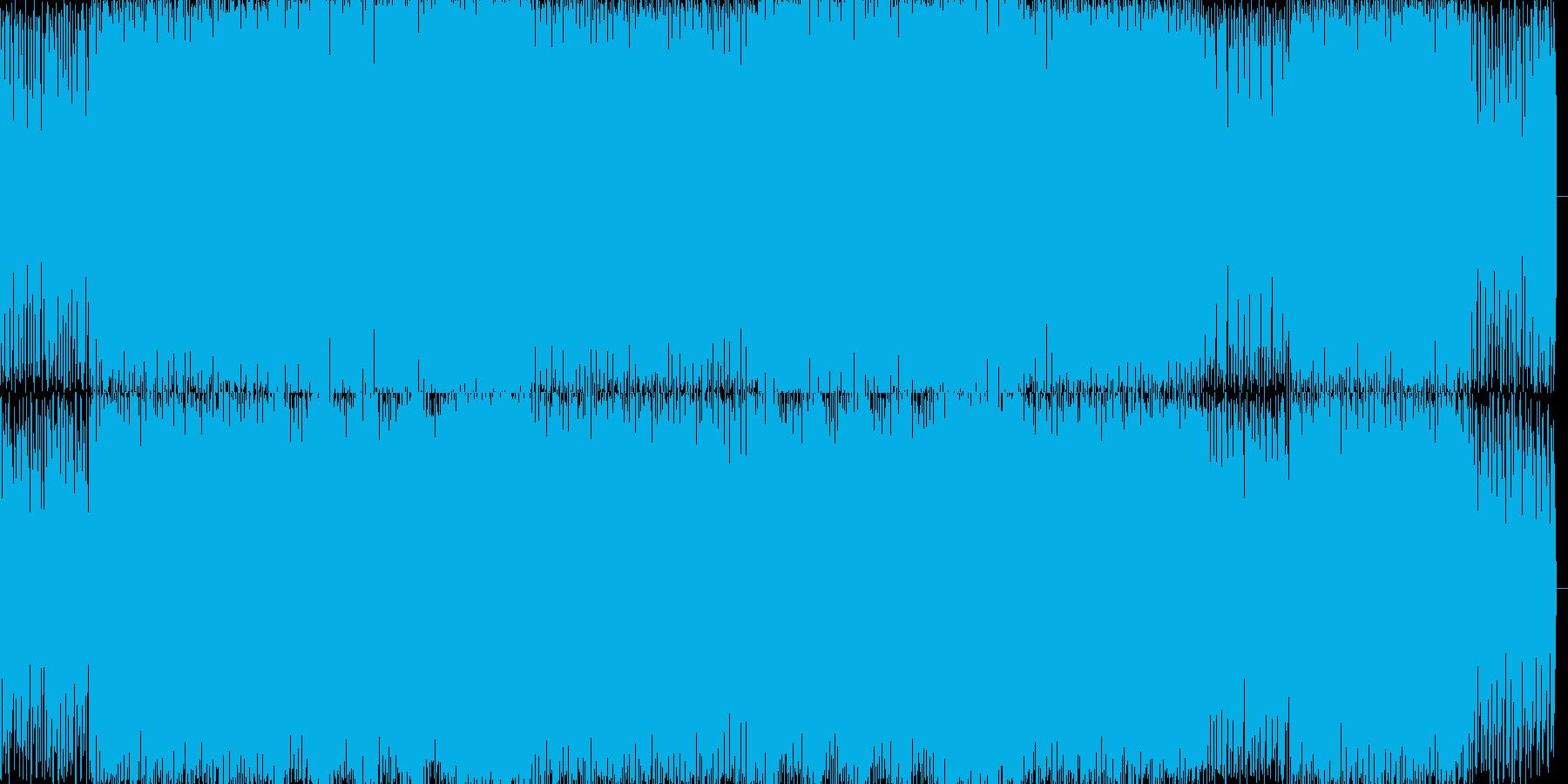 テクノハウス風のBGMを作りました。の再生済みの波形