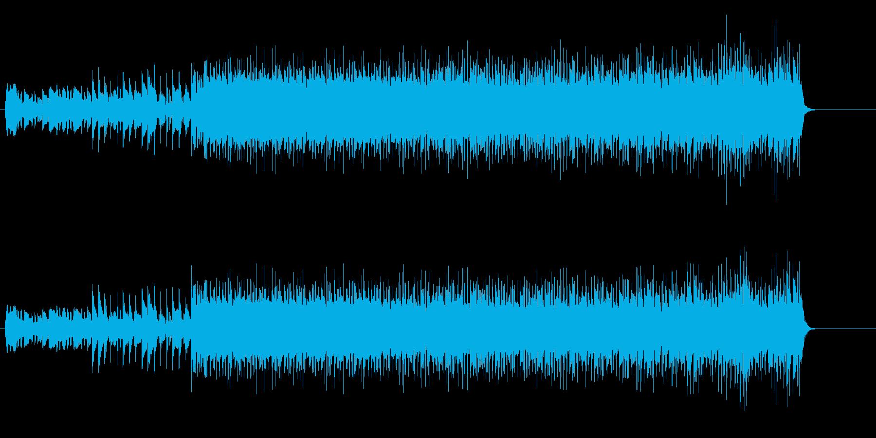 シャープなテクノ・ポップス風の再生済みの波形