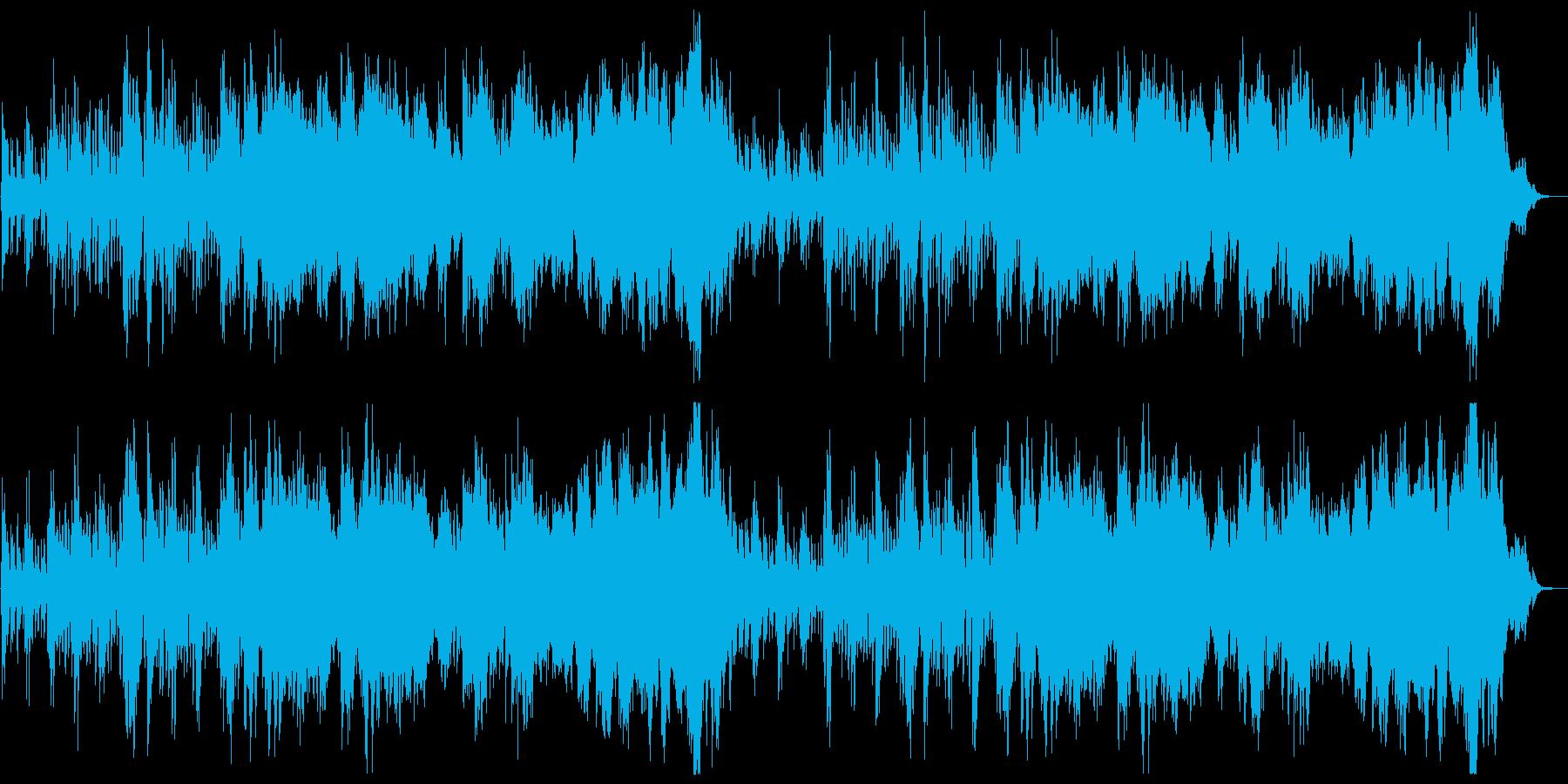 ファンタジーRPG系オーケストラBGMの再生済みの波形