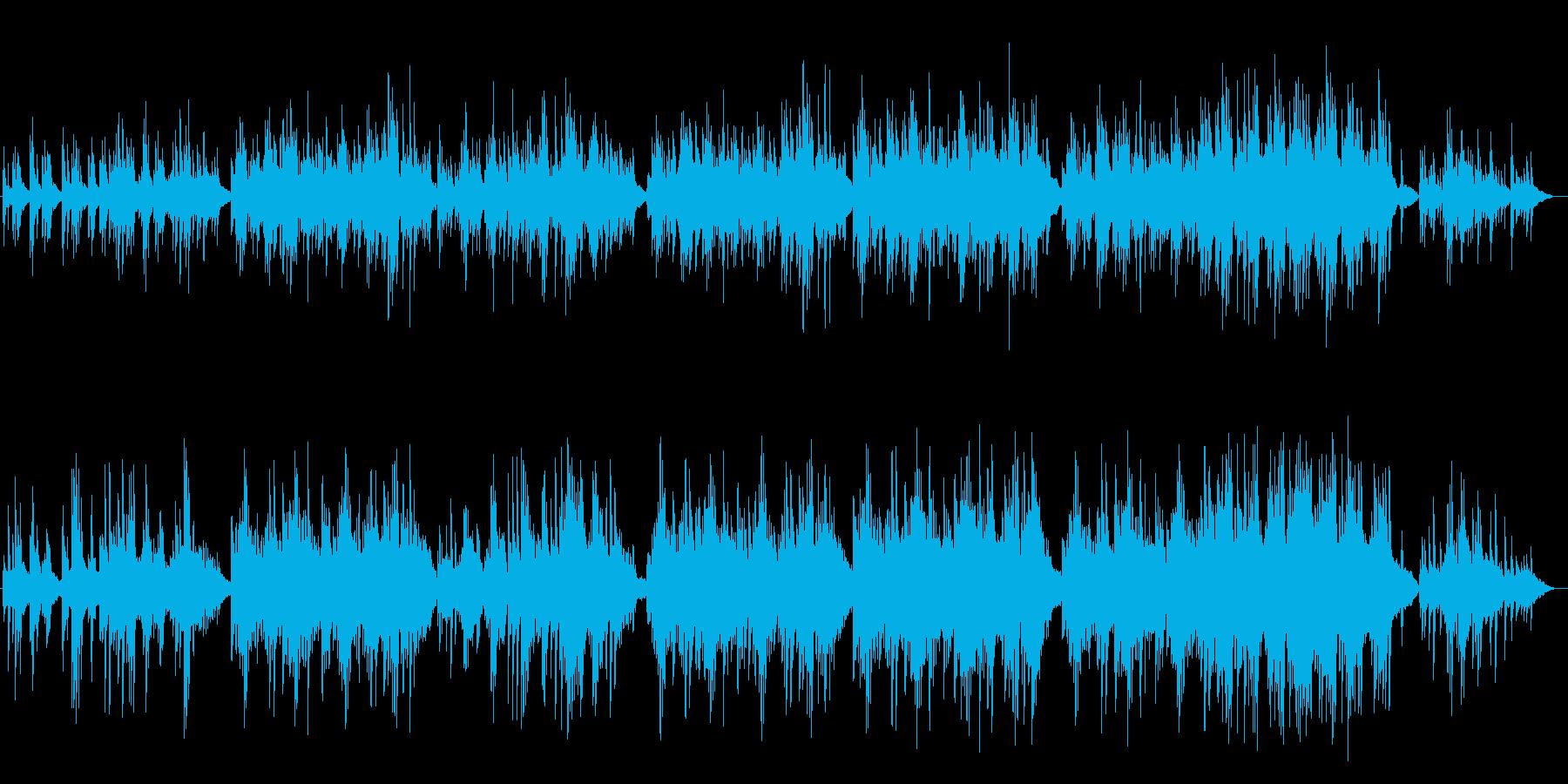 ゆったりしたピアノサウンドの再生済みの波形