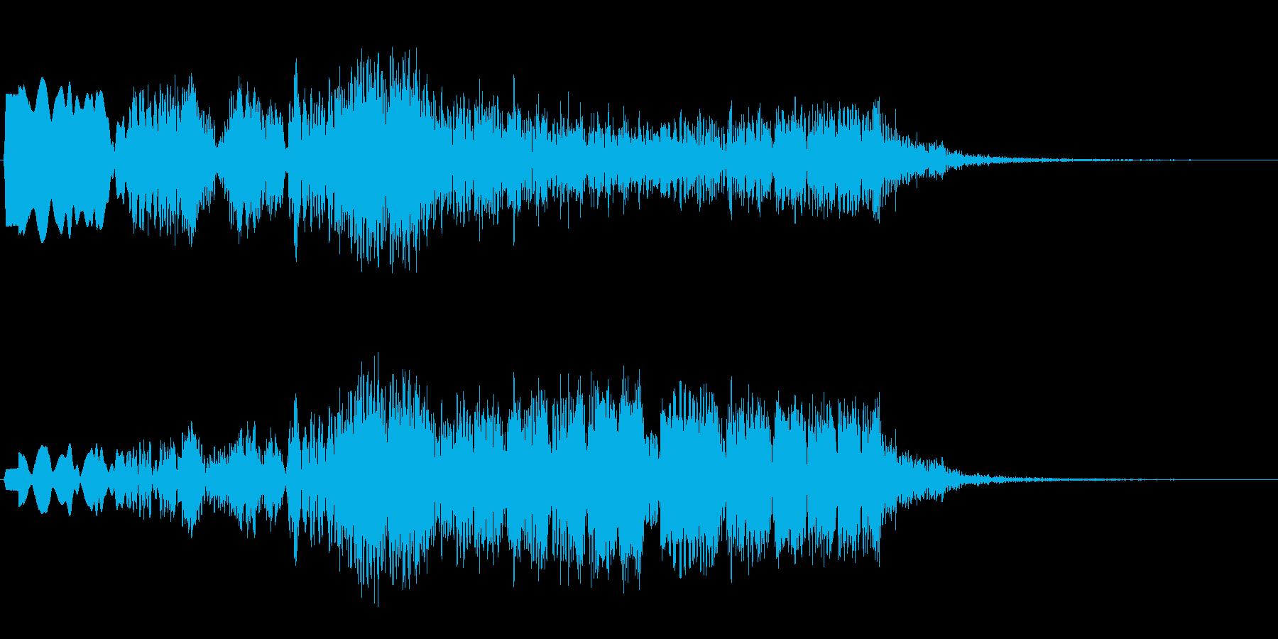 プクプクプク(水中の泡の音)の再生済みの波形