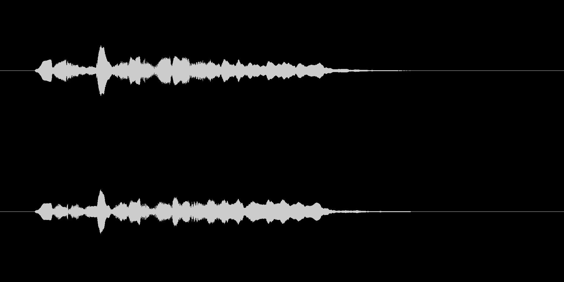 幻想的な笛の音の未再生の波形