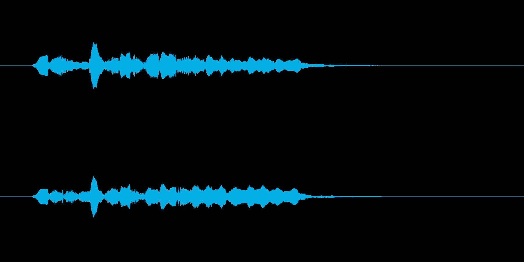 幻想的な笛の音の再生済みの波形