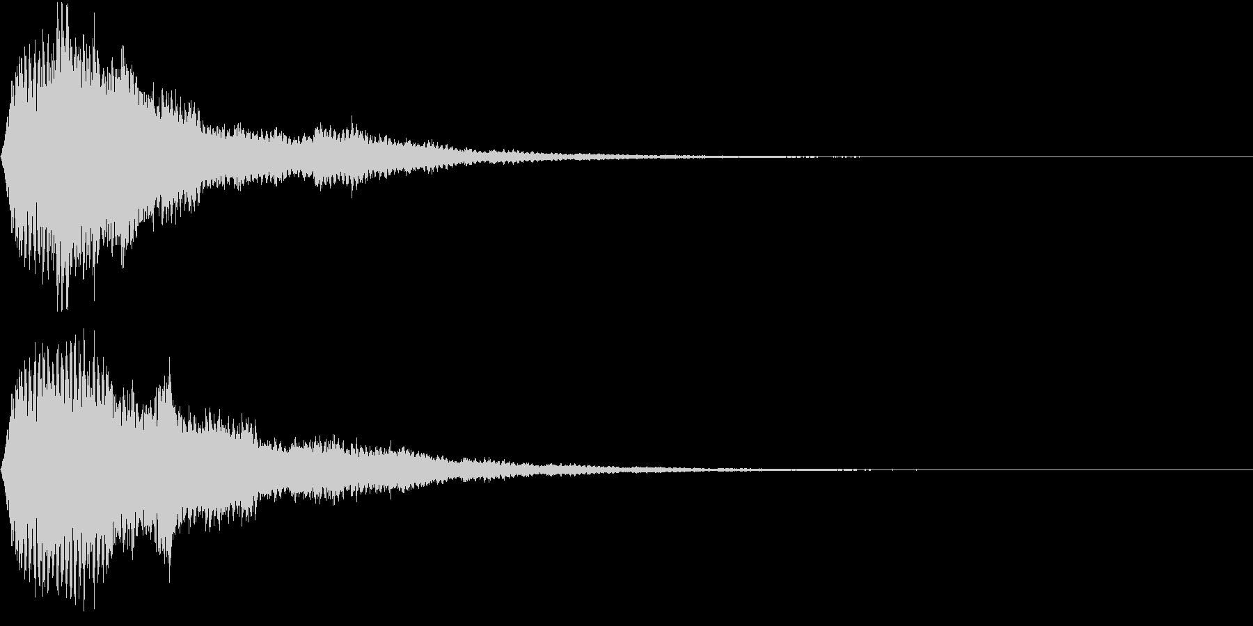 EMail 送受信音 仮想通貨 決済の未再生の波形