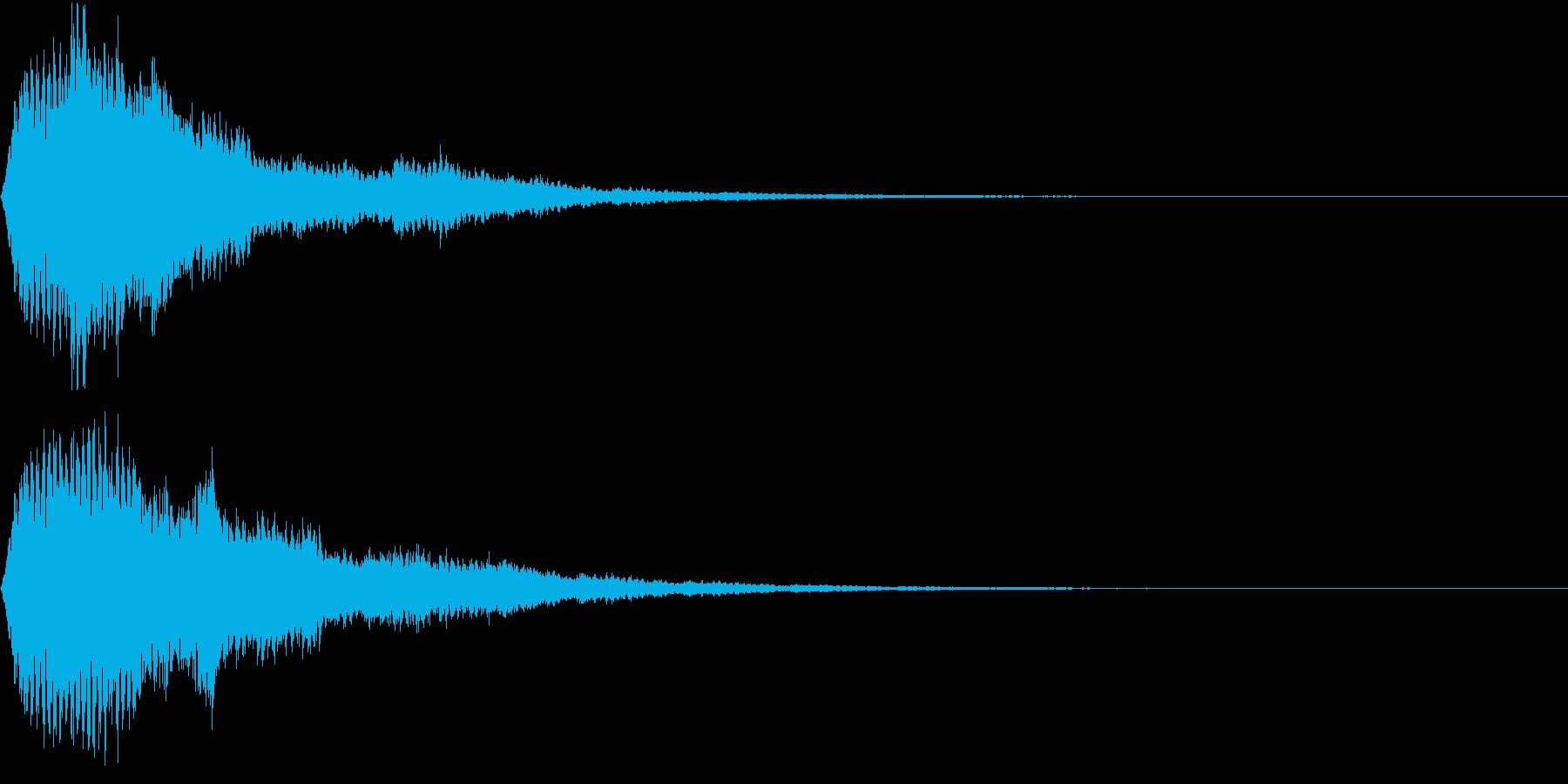 EMail 送受信音 仮想通貨 決済の再生済みの波形