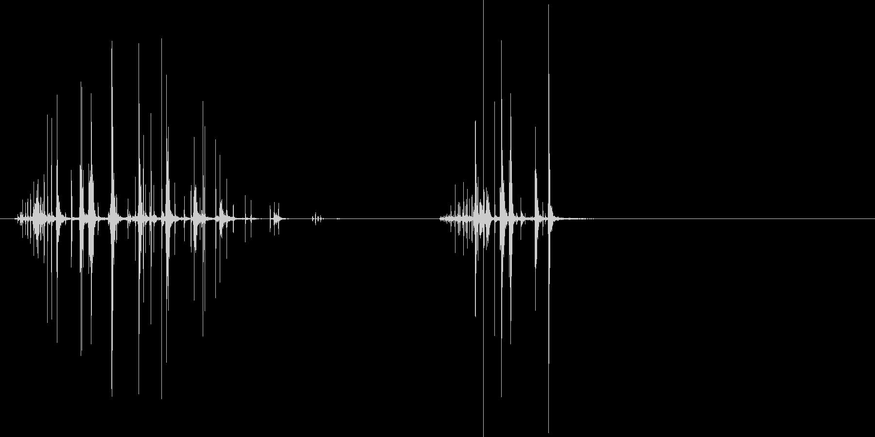 首を絞めて、首の骨を折る効果音の未再生の波形