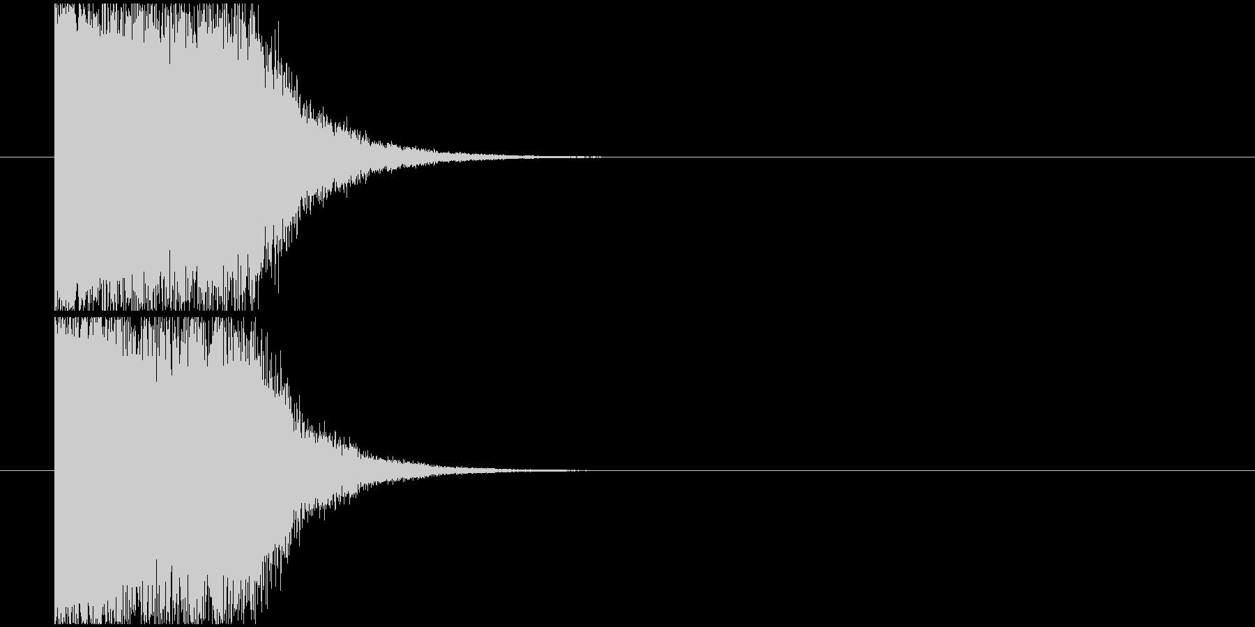 ショック衝撃_インパクト音の未再生の波形