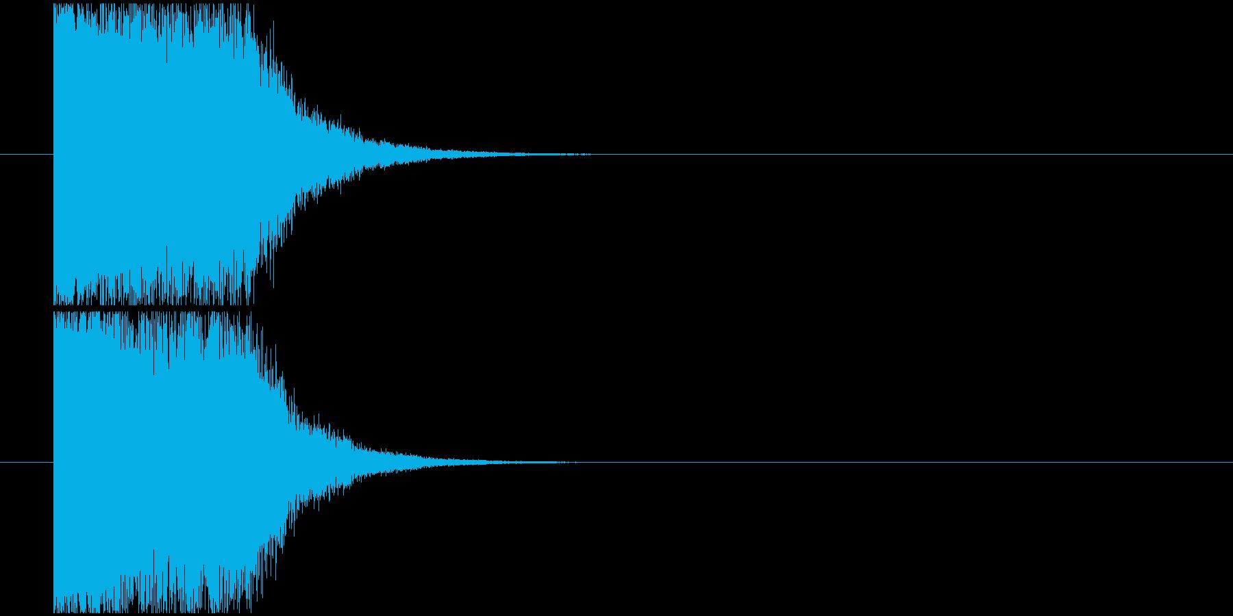 ショック衝撃_インパクト音の再生済みの波形