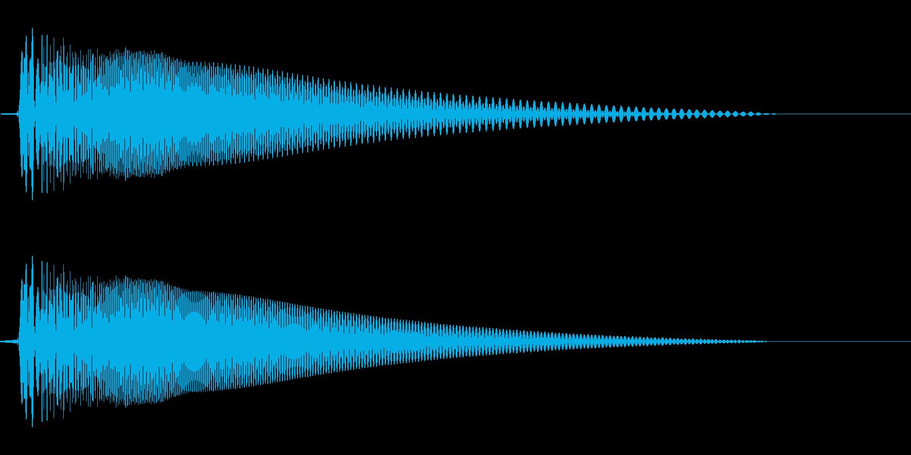 ドビューン(軽い感じの音)の再生済みの波形