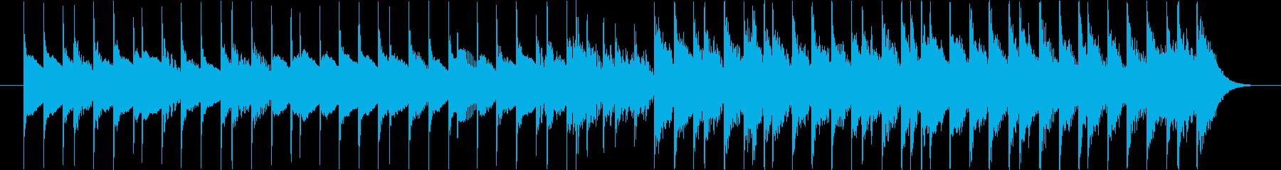 TV番組などで使えるポップな木琴ジングルの再生済みの波形