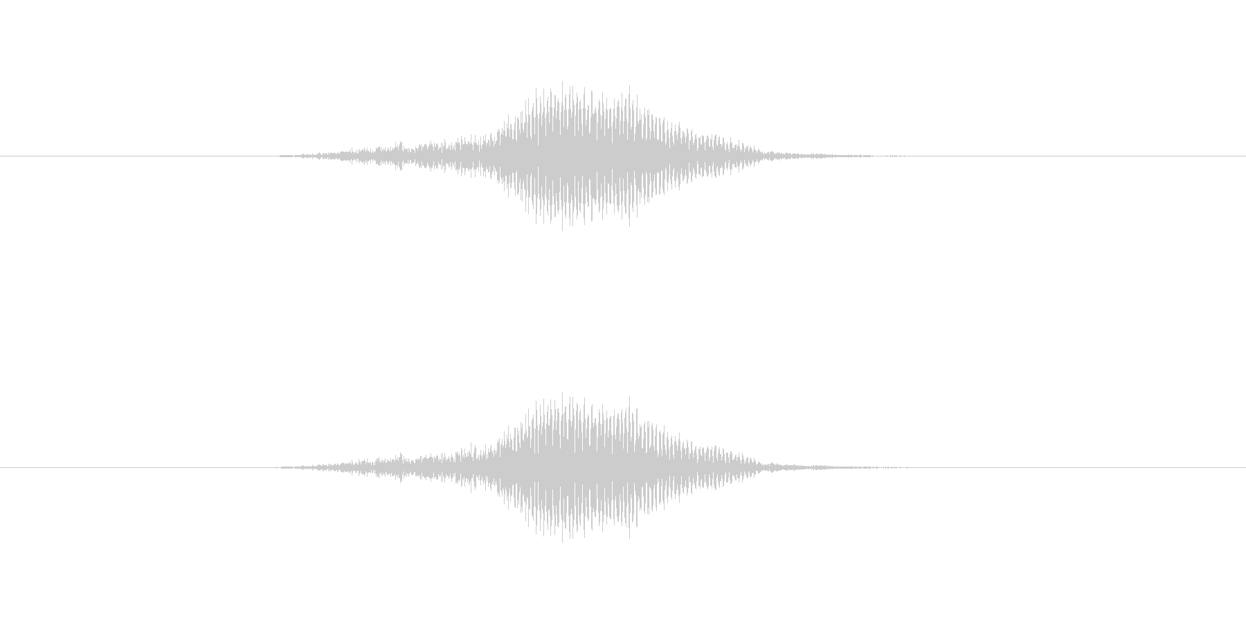 ふっ の未再生の波形