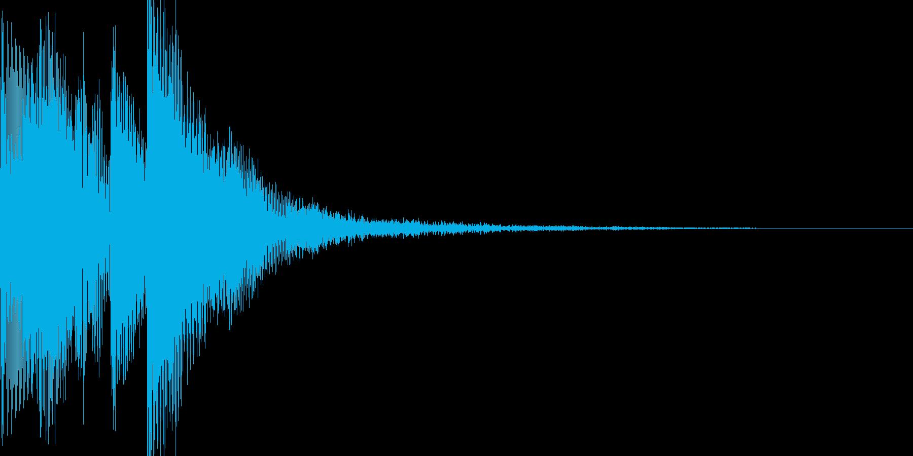 ポップアップ 決定音系 堅めの音 001の再生済みの波形